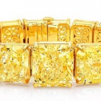 Norman Silverman Fancy Yellow Diamond Bracelet