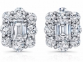 Norman Silverman Diamond Stud Earrings