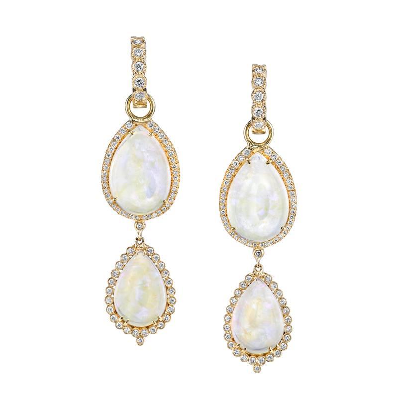 Erica Courtney Crystal Opal Chandelier Earrings