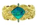 "Paula Crevoshay ""Cleopatra's Charm"" Boulder Opal Bracelet with Diamonds and Blue Zircon"