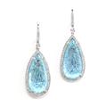 Rina Limor Hand Carved Blue Topaz Earrings