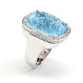 Rina Limor Hand Carved Blue Topaz Ring