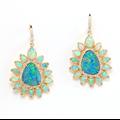 Rina Limor Opal and Diamonds Earrings