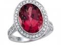 Rudolf Friedmann Pink Tourmaline and Diamond Ring