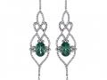 Rudolf Friedmann Green Tourmaline and Diamond Earrings