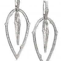 Stephen Webster Thorn Detachable Diamond Earrings in White Gold