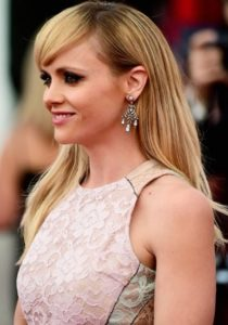 Christina Ricci wearing Fred Leighton Earrings at the SAG Awards