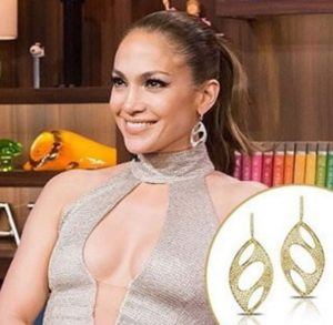 JLo wearing Doves by Doron Paloma on Bravo's Watch What Happens Live