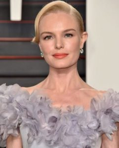 Kate Bosworth wearing Norman Silverman diamond earrings at the Vanity Fair Oscar party