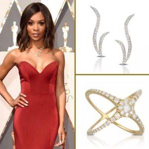 Zuri Hall wearing Doves by Doron Paloma at the Oscars